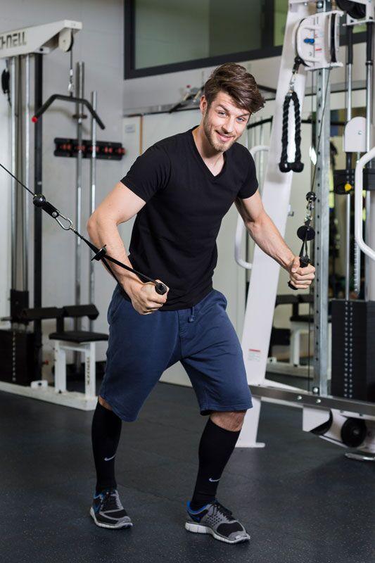 Nikolai beim Workout