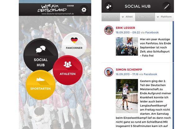 Olympia-App Deutsche Olympiamannschaft