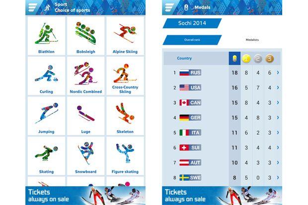 "Olympia-App ""Sochi 2014 Results"""