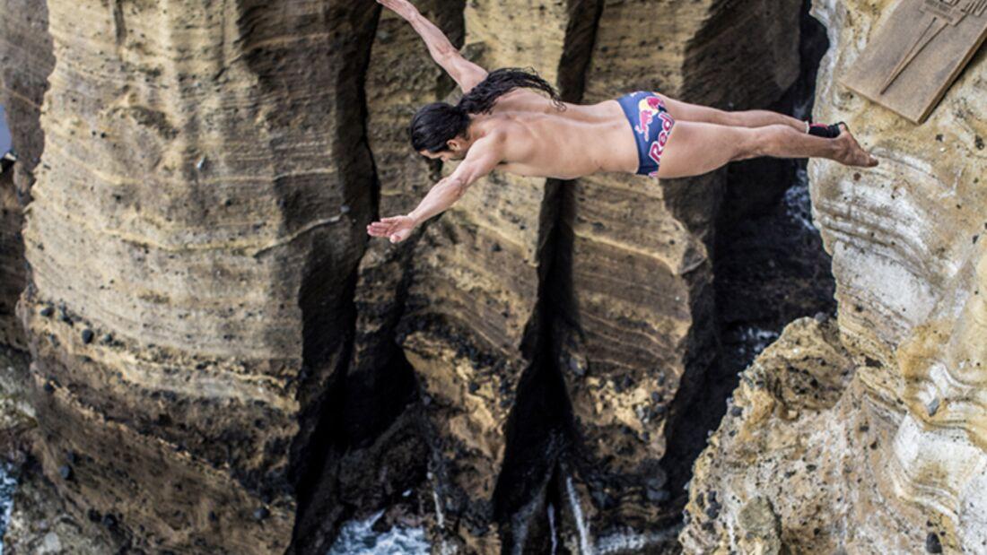Orlando Duque beim Cliff diving: Angst hilft ihm, sich zu konzentrieren