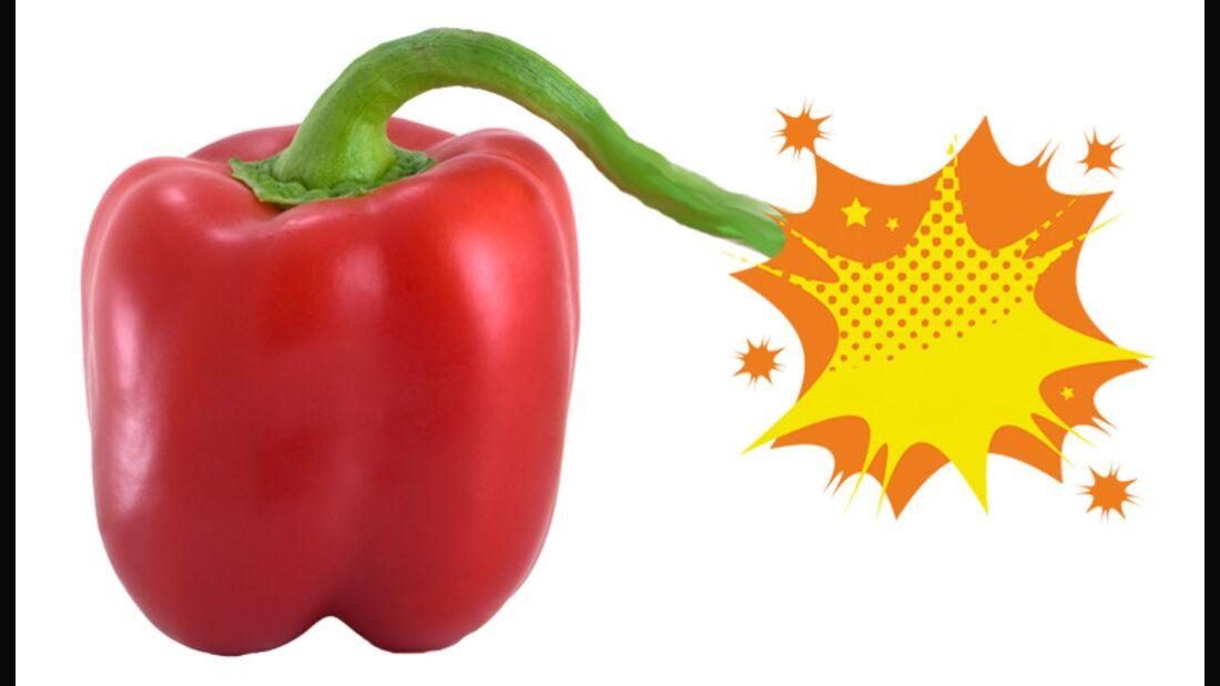 Paprika sind wahre Nährstoffbomben