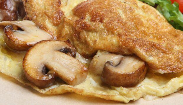 Pilz-Omelette