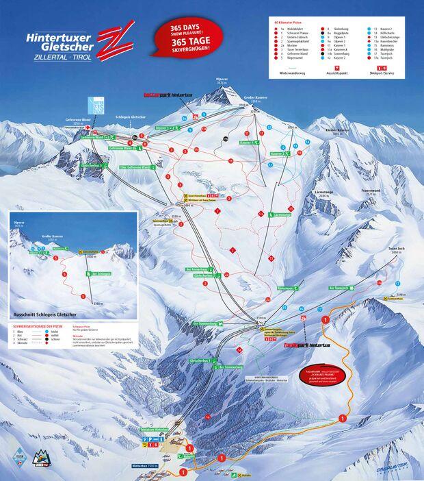 Pistenplan 2014/15: Hintertuxer Gletscher