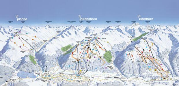 Pistenplan 2015/16: Davos - linke Talseite