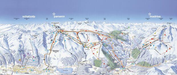 Pistenplan 2015/16: Davos - rechte Talseite