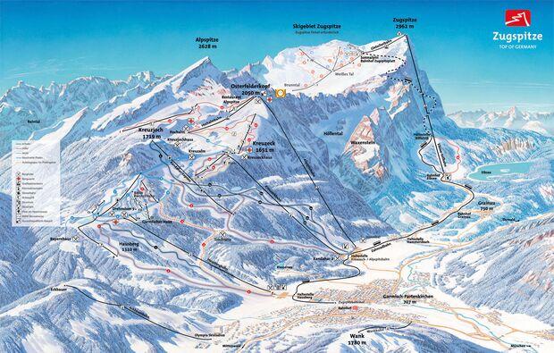 Pistenplan 2015/16: Garmisch-Classic
