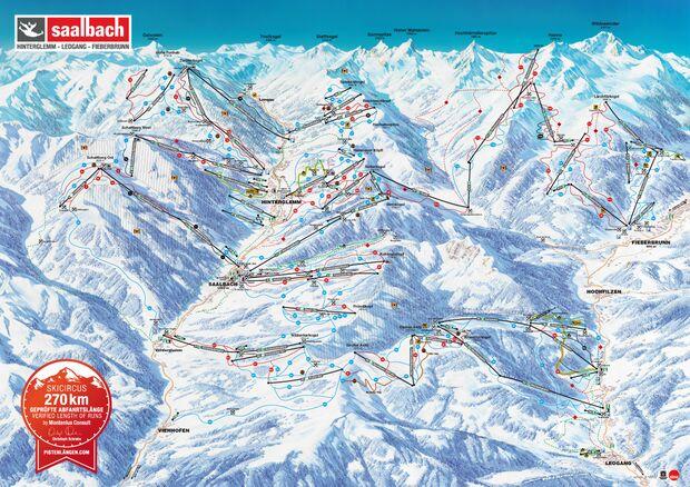 Pistenplan 2015/16: Saalbach Hinterglemm