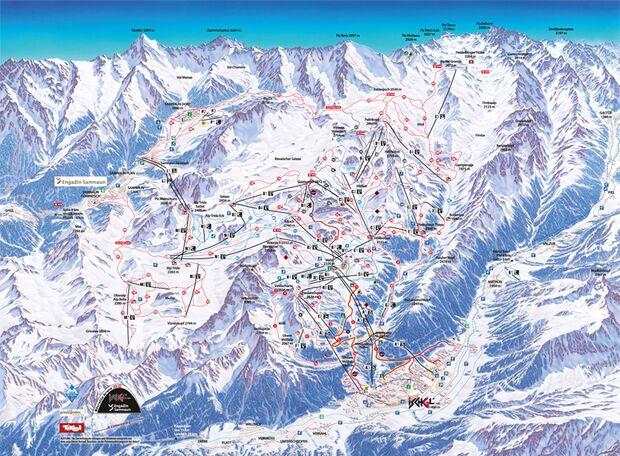 Pistenplan 2015/16: Samnaun-Ischgl