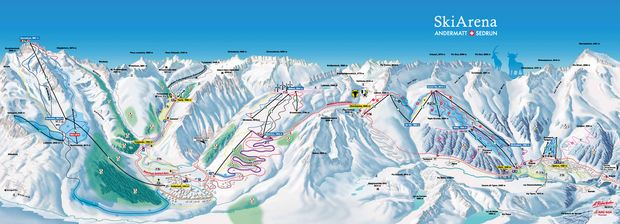 Pistenplan 2015/16: SkiArena Andermatt-Sedrun
