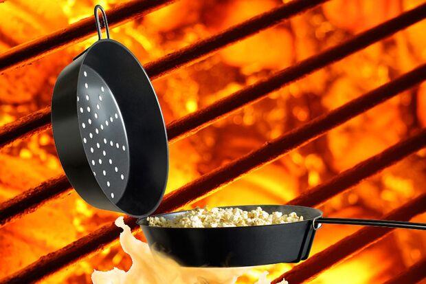 Popcronpfanne für den Grill von barbecook