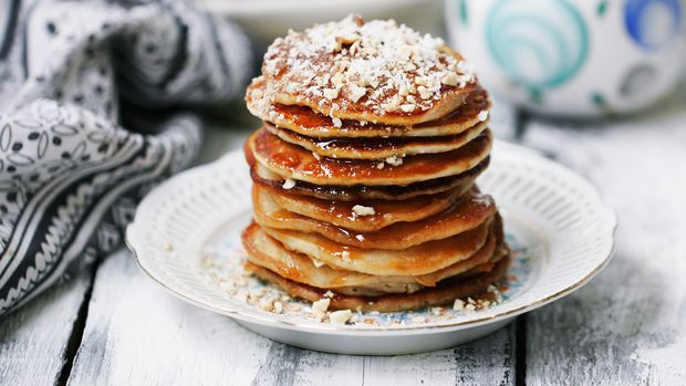 Protein-Pancakes mit Banane und Kokos