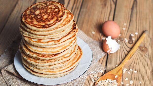 Protein-Pancakes mit Whey und Haferflocken