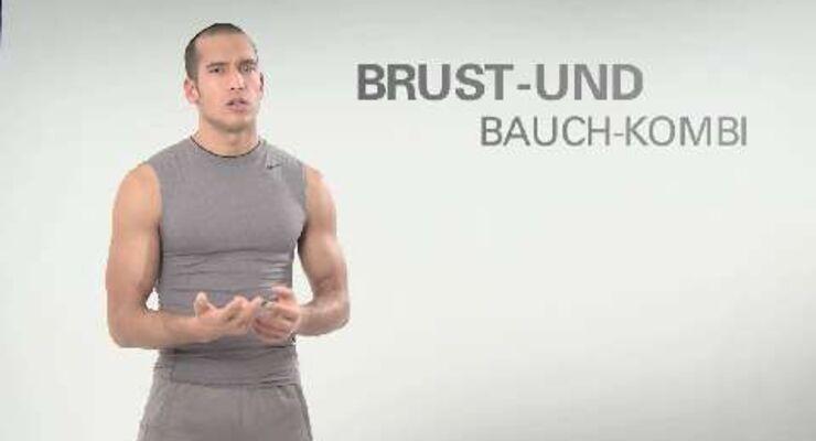 Quick-Sixpack-Workouts Folge 43: Brust- und Bauch-Kombi