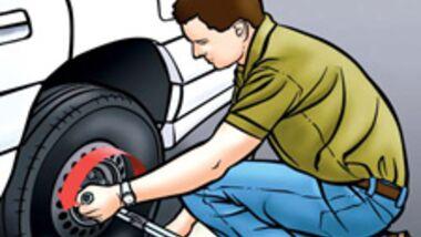 Reifen wechseln kann jeder - aber ein Loch im Kühler ist auch kein Problem