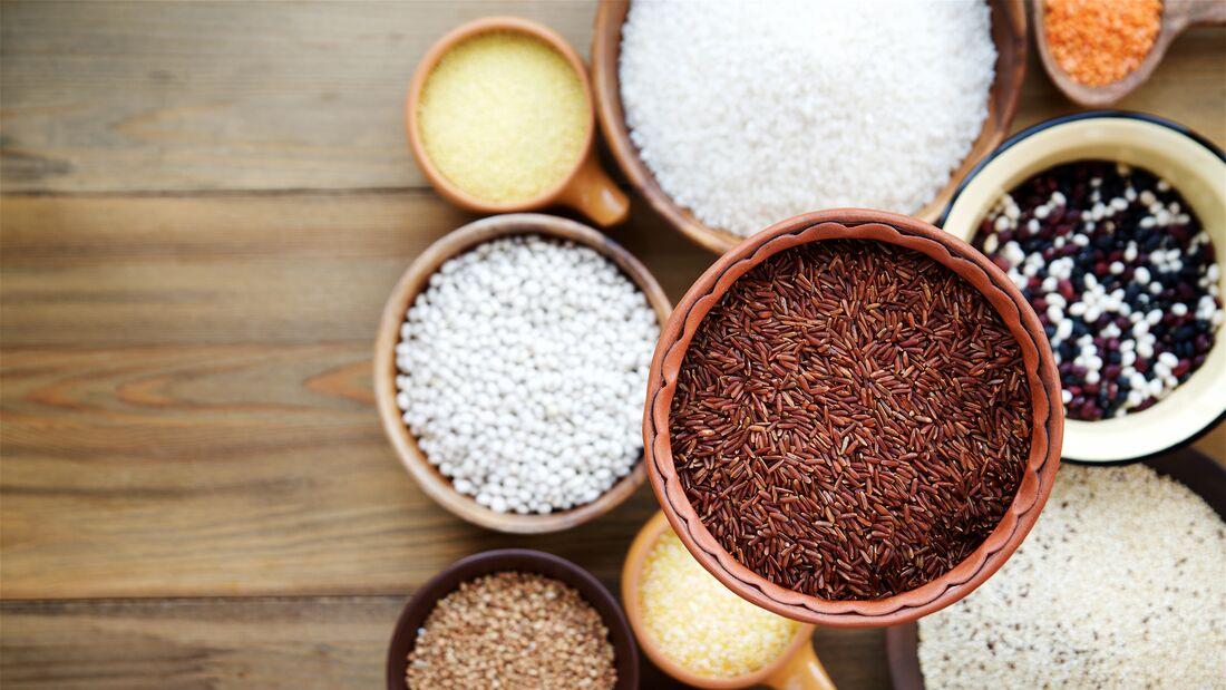 Reis und Hülsenfrüchte sind gesunde Kohlenhydratquellen
