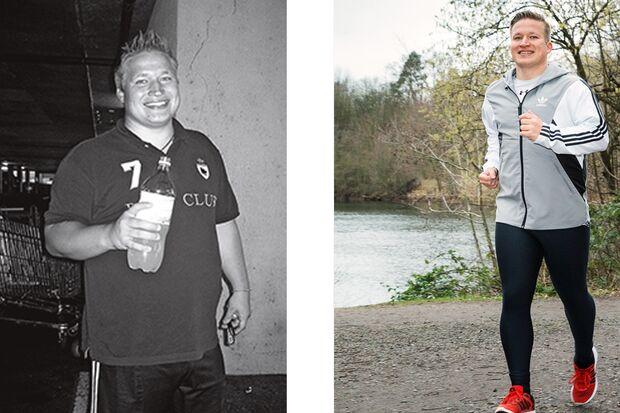Ronney hat abgenommen: vorher wog er 122 kg, 7 Monate später 88 kg