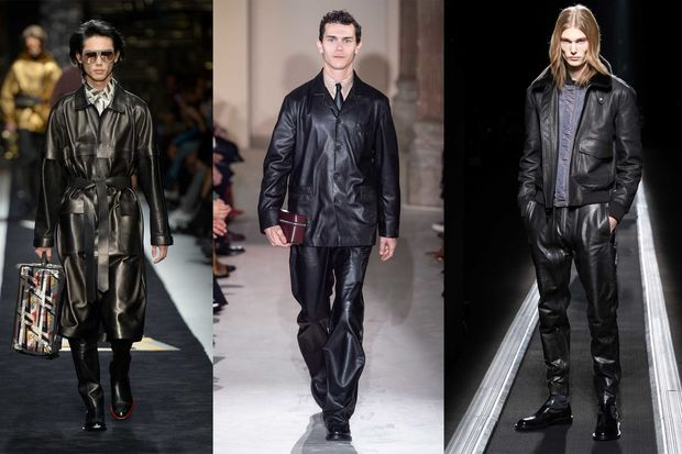 Runway-Trends 2019 Leder - Fendi - Salvatore Ferragamo - Dior Men