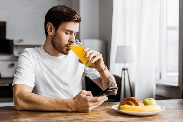 Juice before exercise is not a good idea