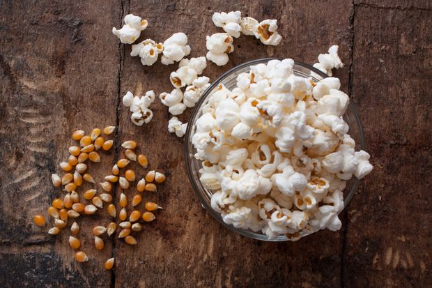 Salziges Popcorn ist ein prima Snack