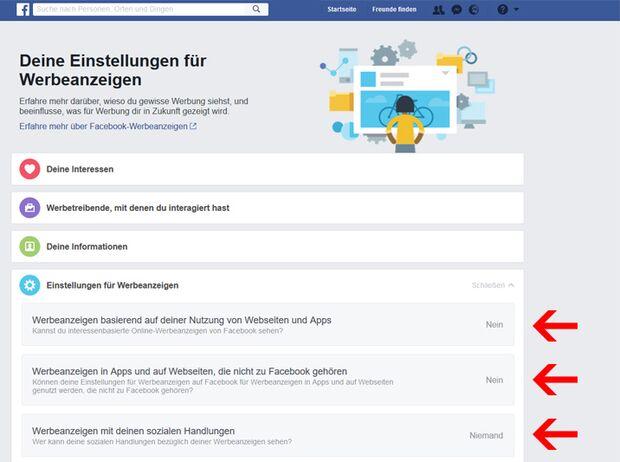 Schalten Sie die personalisierte Werbung bei Facebook ab!