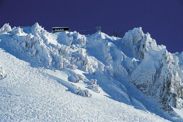 Schindlergrat in St. Anton am Arlberg, Österreich