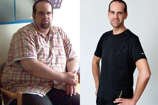 Schnell abnehmen: Sascha nahm 50 Prozent seines Gewichtes ab