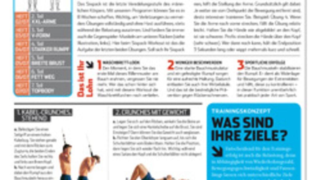 Schneller zum Sixpack: Top 10 der Bauchübungen
