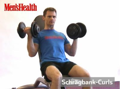 Schrägbank-Curls Trainingsvideo