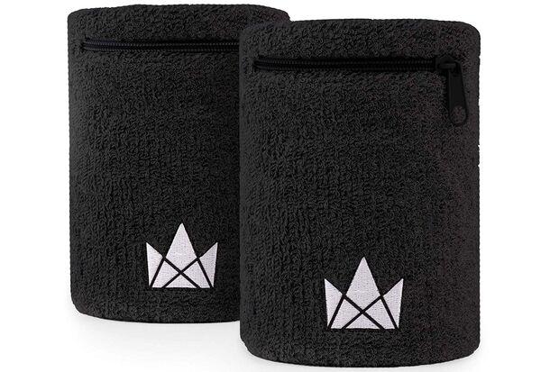 Schweißarmbänder in schwarz