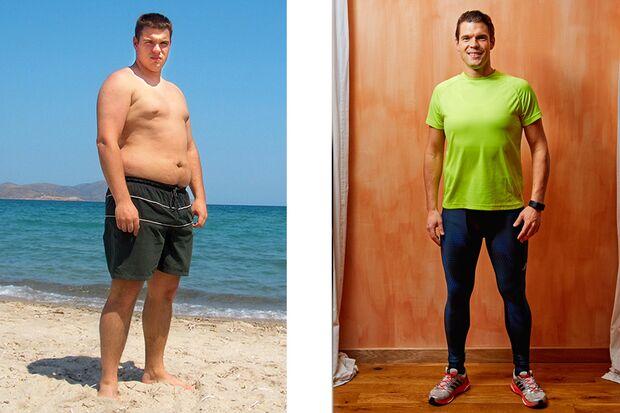 Sebastian hat 42 Kilo abgenommen: Vorher wog er 120 Kilo und nachher 78 Kilo