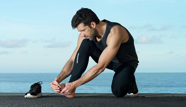 Seien Sie gut zum Fuß, sonst rächen sich Ihre Muskeln und Sehen schmerzhaft