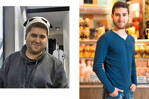 Serdar wog vorher 125 Kilo und nachher 67 Kilo