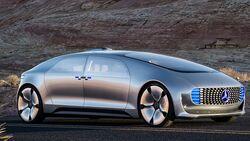 Sieht so die Zukunft der Mobilität aus? Raumschiff auf vier Rädern: Der F 015 von Mercedes-Benz