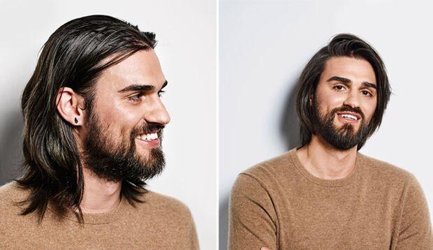 So wird aus langen Haaren eine Frisur
