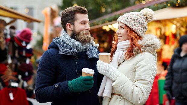 Spare Kalorien auf dem Weihnachtsmarkt