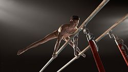 Sportstars nackt: Marcel Nguyen am Barren, seiner Spezialdisziplin