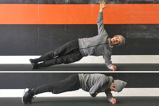 Stabi-Move: Seitstütz mit Drehung