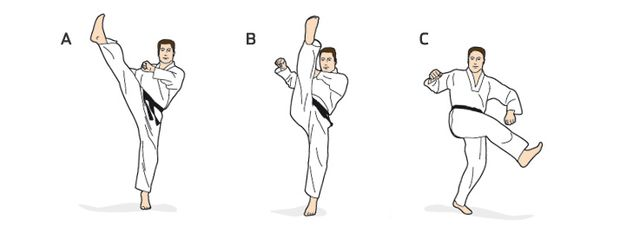 Standardschritt beim Taekwondo