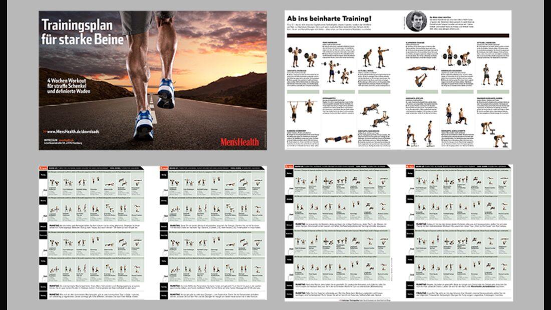 Starten Sie durch mit unserem 4-Wochen-Trainingsplan für starke Beine