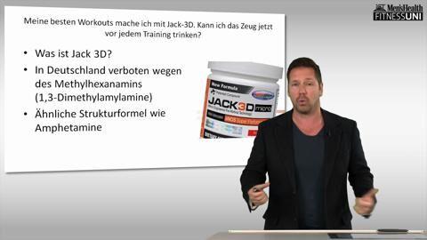 Stephan Geisler lehrt an der IST-Hochschule in Düsseldorf. Bei uns beantwortet der Sportwissenschaftler Ihre Fragen zum Krafttraining, diesmal zum Pre-Workout-Booster Jack 3D