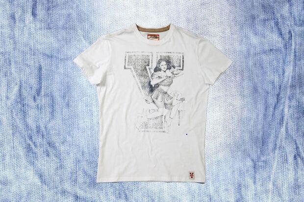 T-Shirt mit Cheerleader-Print von Replay