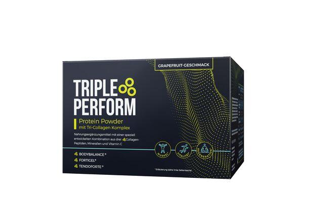 TRIPLE PERFORM regt den körpereigenen Collagen-Stoffwechsel an und unterstützt so den Muskelaufbau