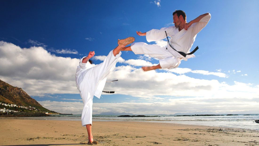 Taekwondo Training am Strand