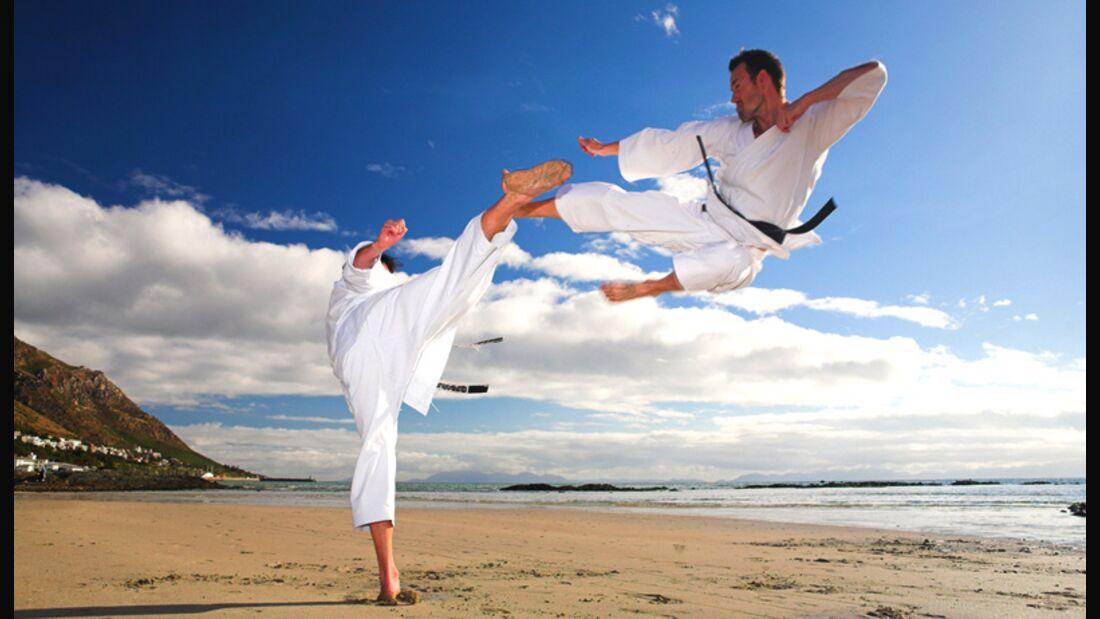 Taekwondo Training am Strand