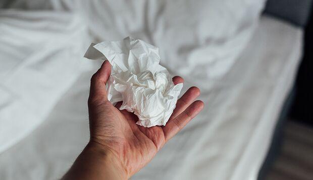 Taschentücher sollten nicht stets das einzige Hilfsmittel beim Onanieren sein