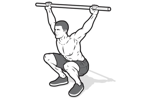 Test 6: Beweglichkeit testen mit Kniebeugen-Stretch