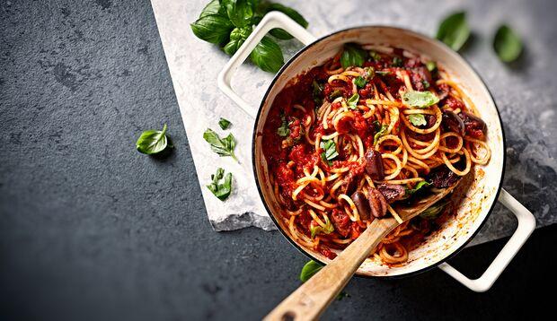 Thunfisch-Pasta mit Oliven