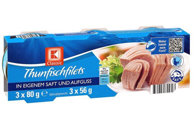 Thunfischfilets von Kaufland