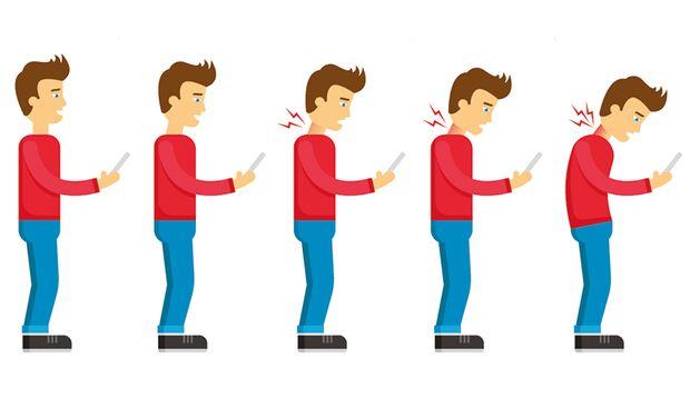 Tippen, Surfen, Daddeln auf dem Handy kann Ihrem Nacken erheblich schaden