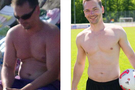 Tobias hat 16 Kilo abgenommen